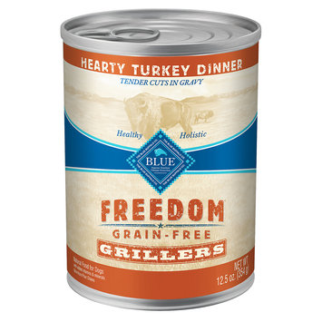 Blue Buffalo Company Blue Buffalo BLUE Freedom Grain Free Grillers Hearty Turkey Dinner