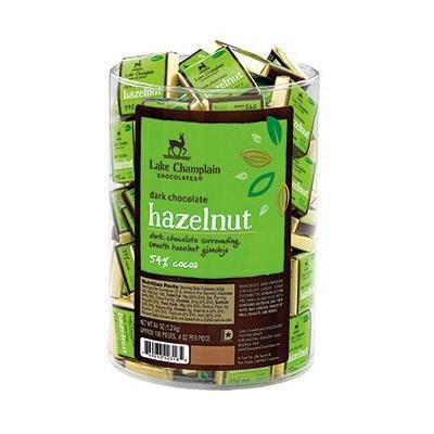 Hazelnut Praline Dark Chocolate Squares (100 piece)