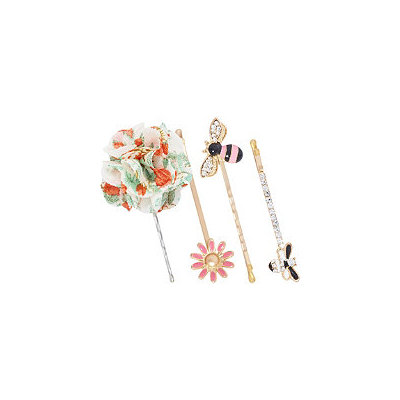 Scunci Bee and Flowers Bobby Pins