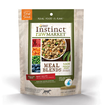 Instinct Raw Market Meal Blends Beef Recipe Freeze Dried Food for Dogs