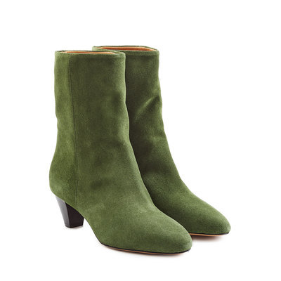 Isabel Marant Etoile Suede Ankle Boots - green