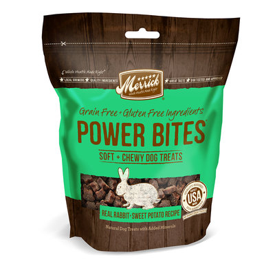 Merrick Power Bites Real Rabbit & Sweet Potato All Life Stages Dog Treats, 6 Oz