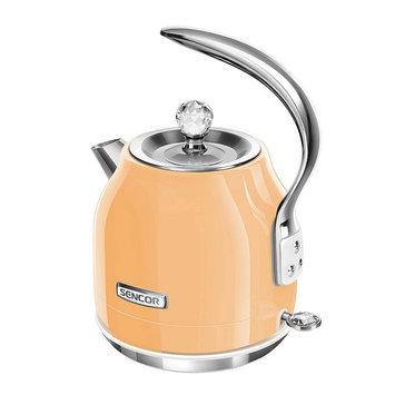 Sencor Swivel Base 1.5-Liter Electric Kettle, Orange