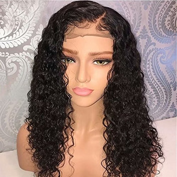 Curly Human Hair 360 Lace Frontal Wig Pre Plucked with Baby Hair 130% Density Brazilian Virgin Hair Loose Deep Curly Wigs for Black Woman