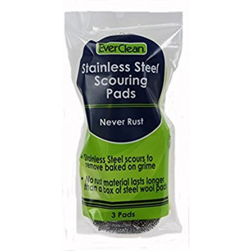 Everclean 6226.0 Stainless Steel Scouring Pads (Pack of 3)