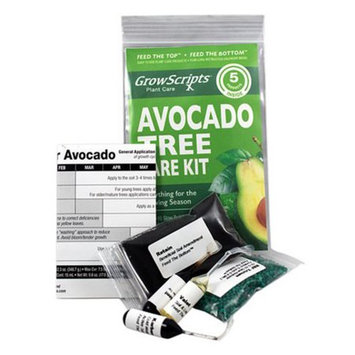 Growscripts 5PC Avocado Tree Care Kit for Small Patio/Indoor Trees Grown in Containers
