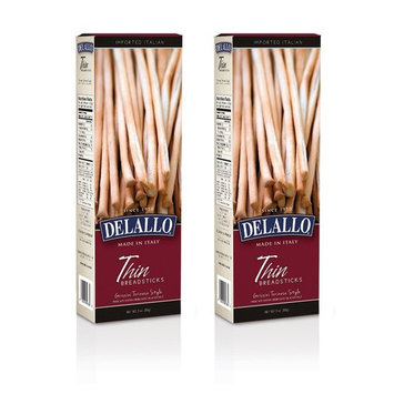 Italian Delallo Fresh Breadsticks 3.5oz (Pack of 2) (Thin)