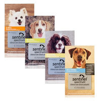 Sentinel Spectrum Chewables for Dogs 8.1-25 lbs 6 Chewables
