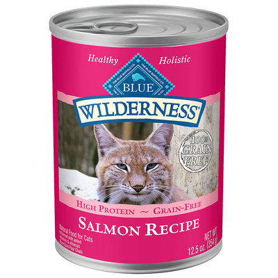 Blue Buffalo Wilderness Salmon Canned Cat Food, 12.5 oz.