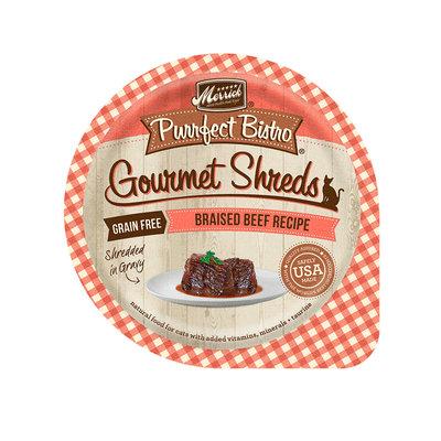Merrick Purrfect Bistro Gourmet Shreds Braised Beef Recipe Wet Cat Food, 3.5 oz.