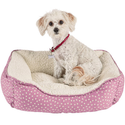 Harmony Pink Dot Nester Dog Bed, 20