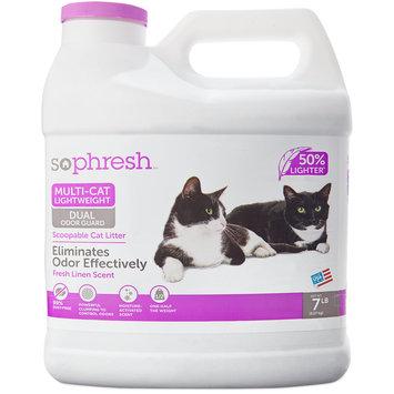 So Phresh Multi-Cat Lightweight Dual Odor Guard Litter, 7 LB