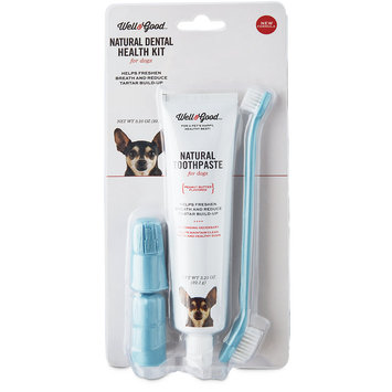 Well & Good Dental Health Kit for Dogs, Peanut Butter Flavor