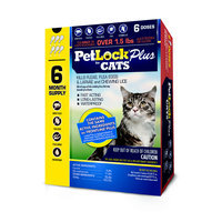 PetLock Plus Flea and Tick Control for Cats, 6 Month Supply