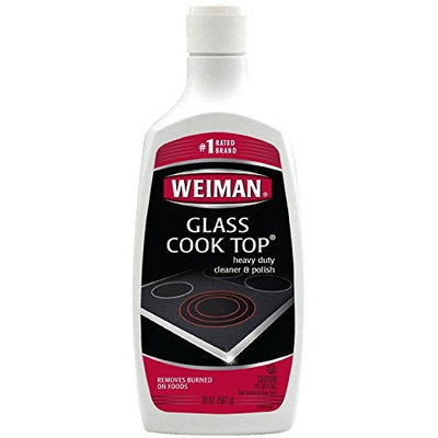 Weiman Glass Cook Top Cleaner and Polish - 20 Ounce [2 Pack] Heavy Duty No Scratch Glass Ceramic Safe Non-Abrasive Stovetop Cooktop Cleaner