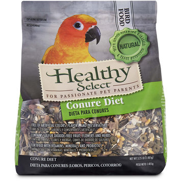Healthy Select Conure Diet Bird Food, 3.25 lbs.