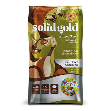 Solid Gold Winged Tiger Quail & Pumpkin Adult Dry Cat Food, 3 lb.