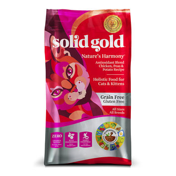 Solid Gold Nature's Harmony Chicken All Life Stages Dry Cat Food, 6 lb.