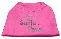 Ahi Screenprint Santa Paws Pet Shirt Bright Pink Sm (10)