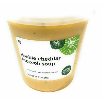 Whole Foods Market, Double Cheddar Broccoli Soup, 24 oz