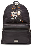 Dolce & Gabbana Backpack with Leather - black