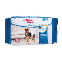Four Paws Wee Wee Disposable Diapers, Large 12ct