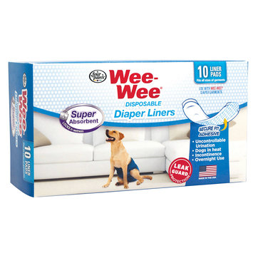 Four Paws Wee-Wee Disposable Diaper Super Absorbent Liners 10ct