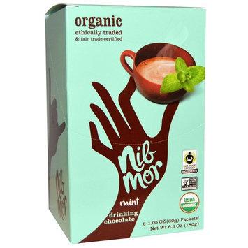Nibmor, Organic Drinking Chocolate, Mint, 6 Packets, 1.05 oz (30 g) Each [Flavor : Mint Drinking Chocolate]