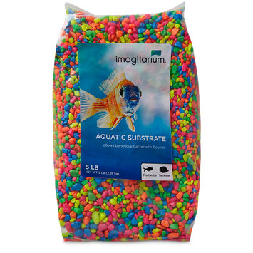 Imagitarium Neon Confetti Mix Aquarium Gravel, 5 lbs