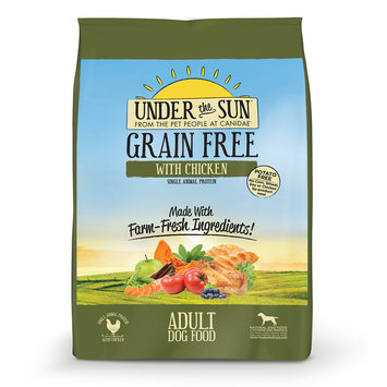Under The Sun Grain Free Adult Dog Food Made With Farm-Raised Chicken, 4 lbs