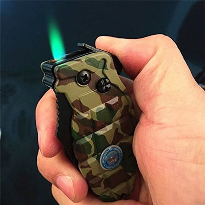 HOT SALE Multi Windproof Refillable Butane Gas Cigarette Lighter Folding Knife Jet Flame MEC