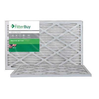 AFB Silver MERV 8 11.5x21x1 Pleated AC Furnace Air Filter. Filters. 100% produced in the USA. (Pack of 2)