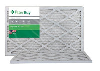 AFB Silver MERV 8 12.5x21x1 Pleated AC Furnace Air Filter. Filters. 100% produced in the USA. (Pack of 2)