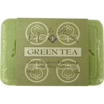 L'epi de Provence Triple Milled Green Tea Shea Butter Vegetable Soaps from France 200g [Green Tea]