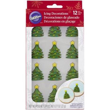 Royal Icing Decorations 12/Pkg -Mini Christmas Tree