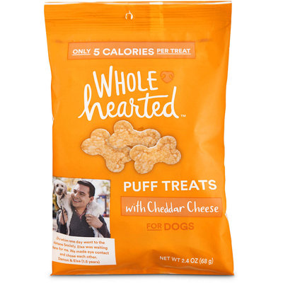 Wholehearted Cheddar Cheese Puff Dog Treats, 2.4 oz.