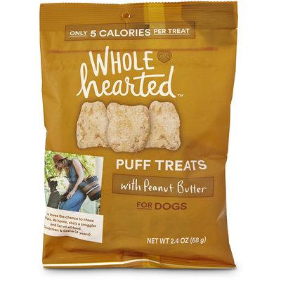 WholeHearted Dog Puff Treats - Peanut Butter, 2.4 oz.