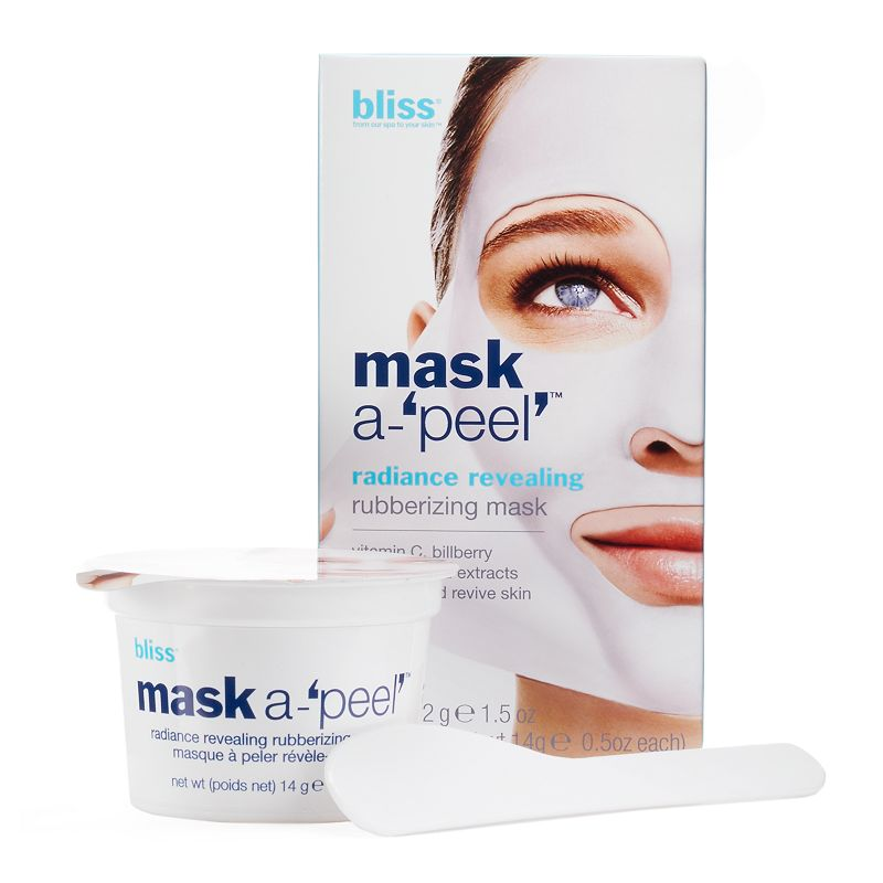 bliss mask a-'peel' radiance revealing rubberizing mask (3 pack)