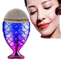 Doinshop Makeup Brush Fish Scale Fishtail Bottom Brush Powder Blush Cosmetic Brush