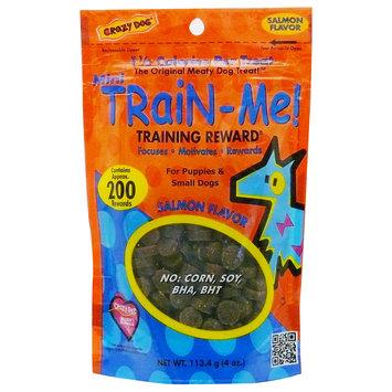 Crazy Dog Mini Train-Me! Salmon Dog Treats, 4 oz.