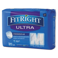Medline Industries Medline FitRight Ultra Protective Underwear, X-Large, 56-68