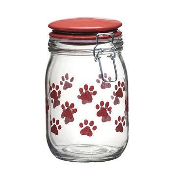 Global Amici Pet Paw 6-pc. Hermetic Glass Storage Jar Set, Red