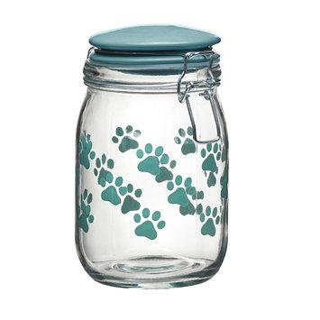 Global Amici Pet Paw 6-pc. Hermetic Glass Storage Jar Set, Turquoise/Blue (Turq/Aqua)