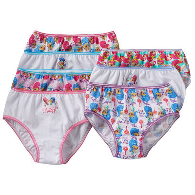 Girls 4-8 Shimmer & Shine 7-pk. Bikini Panties, Girl's, Size: 6, Pink