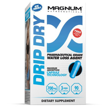 Magnum Nutraceuticals Drip Dry Natural Diuretic 700 mg - 90 Capsules Defines Lean Muscle & Protects Against Cramping