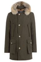 Woolrich Arctic DF Down Parka with Fur Collar - green