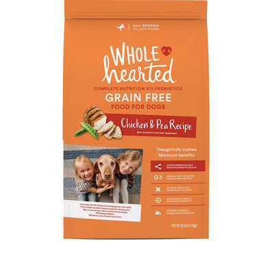 WholeHearted All Life Stages Dog Food - Grain Free Chicken & Pea, 25 lbs.