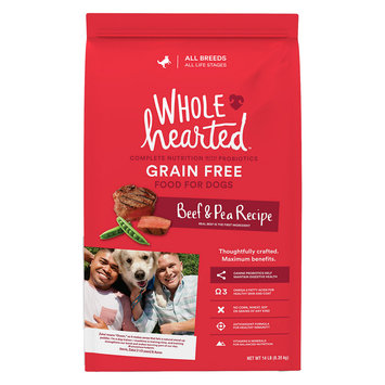 WholeHearted All Life Stages Dog Food - Grain Free Beef & Pea, 14 lbs.