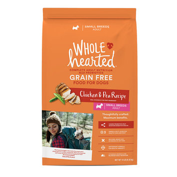 WholeHearted Small Breed Adult Dog Food - Grain Free Chicken & Pea, 14 lbs.