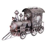 Exhart Metal Train Statue Outdoor Decor, Multi/None